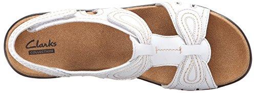 Clarks Womens Lexi Walnut Shoe, White, 10 Wide US