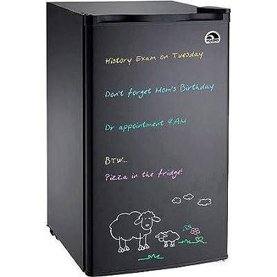 Igloo Eraser Board Refrigerator with 2 Adjustable Shelves, 2L Bottle in door, Adjustable Thermostat and Reversible Door