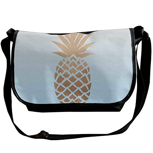 Golden Bag Fashion Black Satchel Designer Light Shoulder Background Handbags Single Men's Pineapple Bag Casual qxq8rzTg