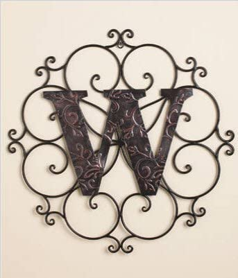 Personalized Letter W Metal Wall Art – Great Gift