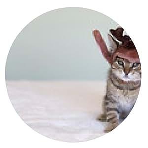 alfombrilla de ratón gatito de la navidad - ronda - 20cm