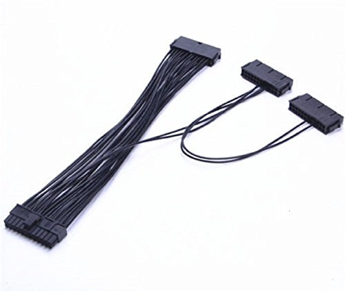 Triple PSU Cable 3 Power Supply 24-Pin ATX Motherboard Adapter Cable Cord For BTC Miner Machine