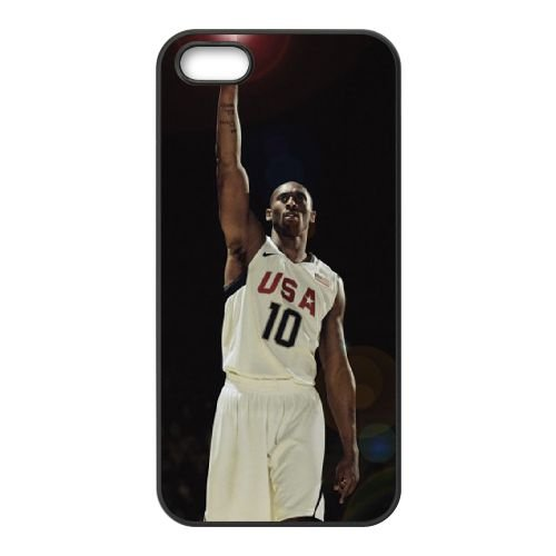 Kobe Bryant Victory Pose coque iPhone 5 5S cellulaire cas coque de téléphone cas téléphone cellulaire noir couvercle EOKXLLNCD25360