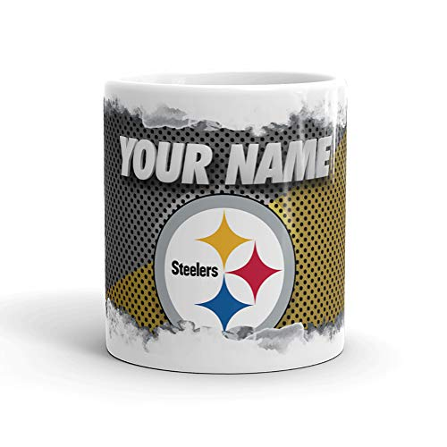 Pittsburgh Steelers Color Blast Custom Personalized Name Football Coffee Mug Gift - Mug Oz Steelers Pittsburgh 11