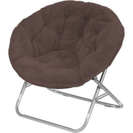 Mainstays' Kids Blue Sharks 5 Piece Bed in a Bag in Full Size with 225 lbs Capacity Saucer Folding Chair Faux Fur Fabric in Brown - Bundle Set