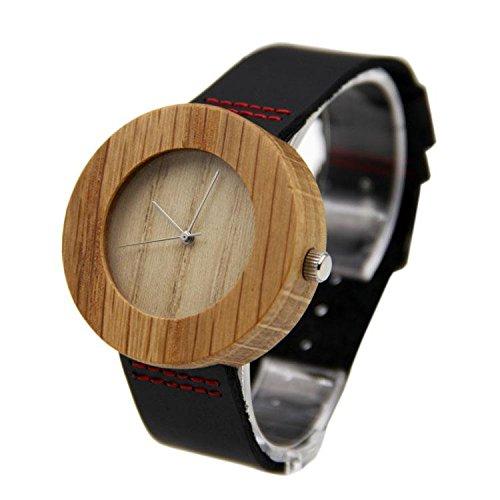 Biao&MZ Nuevo reloj / Unisex / ocio y negocio / natural de la madera / bambú / reloj de pulsera / cuero la correa / de regalo / usable / accesorios , 02