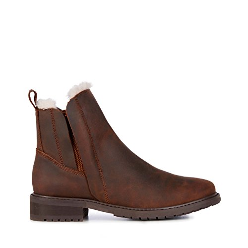 102bf7d552807 EMU Australia Pioneer Leather Womens Deluxe Wool Waterproof Boots Size 10