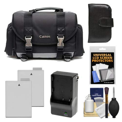 Canon 200DG Digital SLR Camera Case - Gadget Bag with 2 LP-E8 Batteries & Charger + Accessory Kit for Rebel T2i, T3i, T4i, T5i