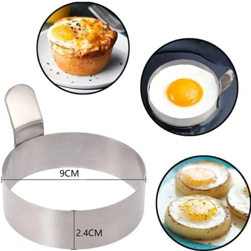 IUwnHceE Non Stick METAL EGG FRYING RINGS Perfect Circle Round Fried//Poach Mould 1PC Home Use