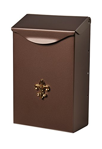 Flush Door Holder Mount Wall (Gibraltar Mailboxes Classic Small Capacity Galvanized Steel Venetian Bronze, Wall-Mount Mailbox, BW110V04)