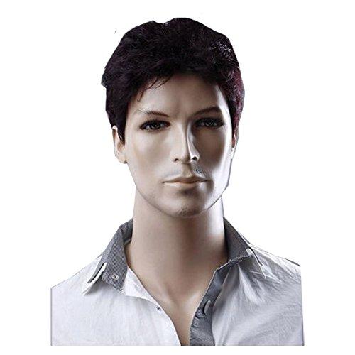 Hair Wigs For Men - KOLIGHT Hot Businessmen Wigs Brown-Black Hair