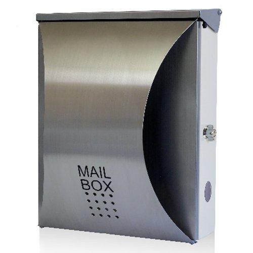 EUROデザイナーズポスト ユーロデザイナーズポスト MB5207 シルバー 郵便受け MB5207-KL-STAINLESS 080 ステンレス 奥行30×高さ38.5×幅17.5cm B016LSOBCM 23698  ステンレス