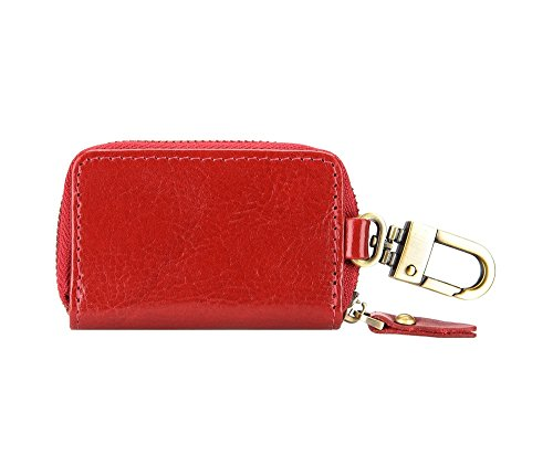 WITTCHEN caso, Rosso, Dimensione: 8x5 cm - Materiale: Pelle di grano - 21-2-500-3