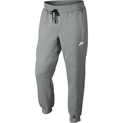 Nike Mens AW77 Cuffed Fleece Sweatpants Dark Grey/White 598871-063 Size 2X-Large