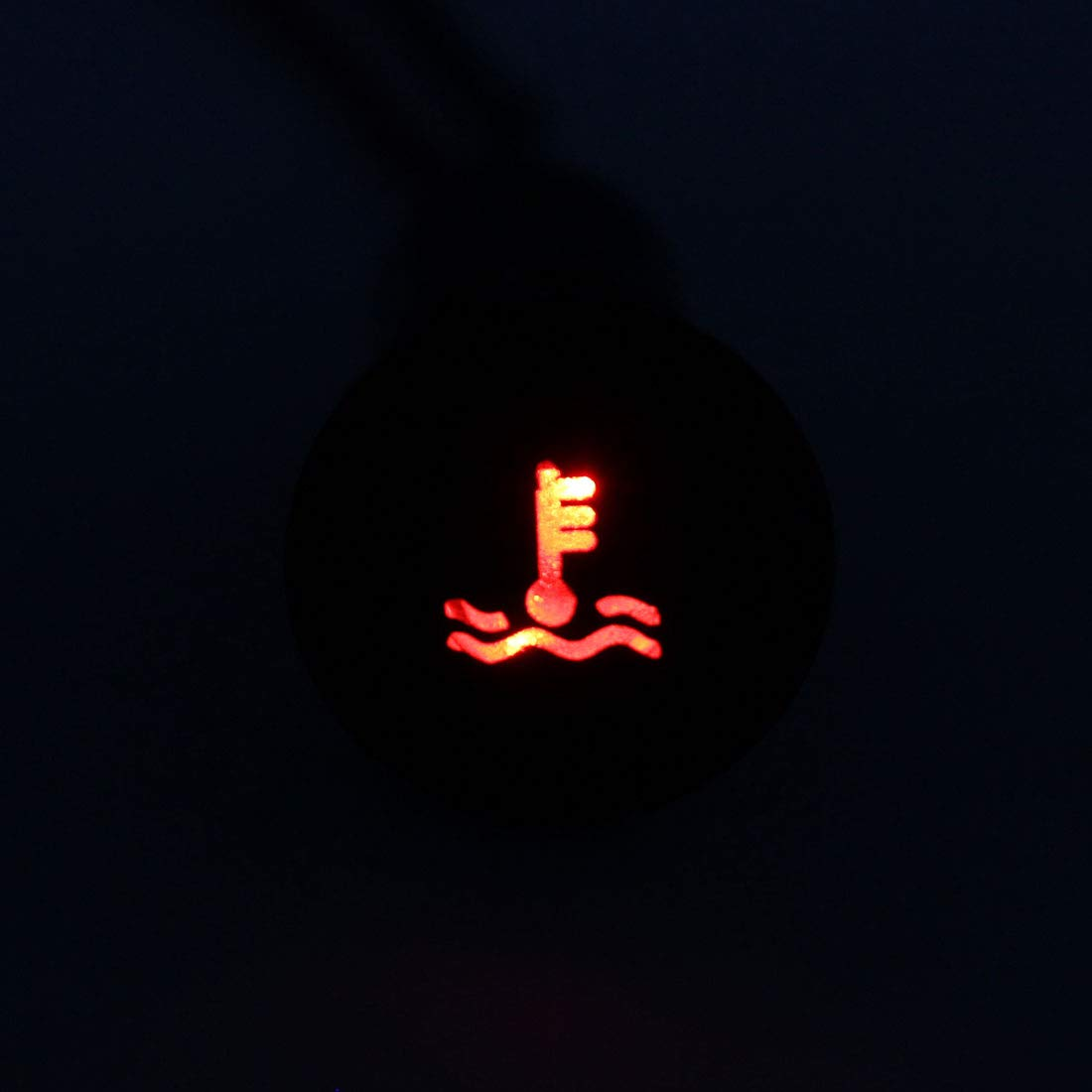 uxcell Signal Indicator Light DC 12V 12mm Red LED Aluminum Shell with Symbol Water Temperature