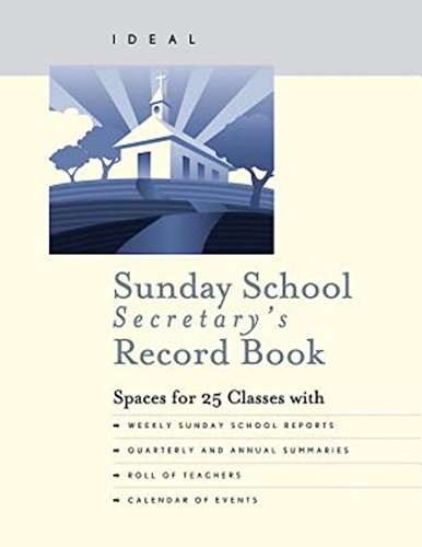 School Record Book - Ideal Sunday School Secretary's Record Book
