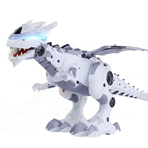 OceanEC Electronic Dinosaur Robot Toy, Multi-Functional Walking Dinosaur Robot Toy with Flashing Lights Sounds Movement for Kids (20