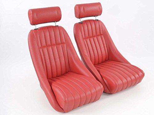 FK oldtimer car seats set Montgomery full bucket seats classic car sets retro-look FKRSE011077: