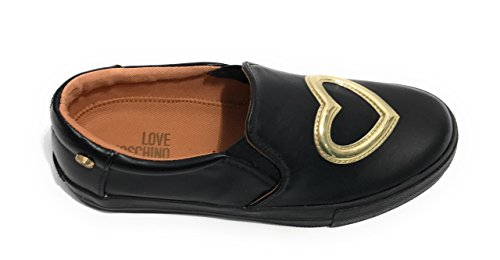 Cuore Donna Slipon Moschino Love Gold Nero D18mo23 Scarpe qRAFFvwaU