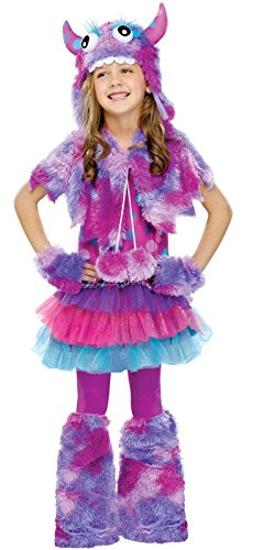 [Fun World Polka Dot Monster Girls Costume Medium (8-10)] (Halloween Costumes For Girl Kids)
