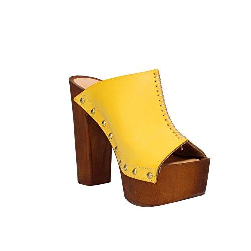 OLGA RUBINI - Sandalias de vestir de Piel para mujer amarillo
