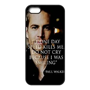 Custom Cover Case with Hard Shell Protection for Iphone 5,5S case with Paul Walker lxa#7097218