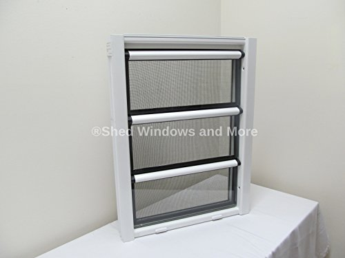 18'' x 24'' Aluminum Jalousie Style Window 3 panes by Shed Windows and More