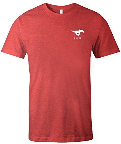 Mustang Adult T-shirt - NCAA SMU Mustangs Adult NCAA Simple Mascot Short sleeve Triblend T-Shirt,Medium,Red