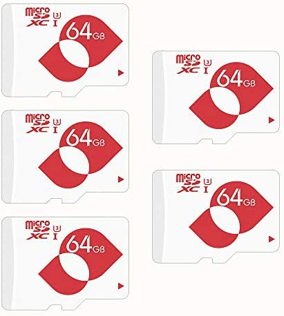 MENGMI microSD Card Flash Memory Card U3 64GB 5 pack MMTFU3