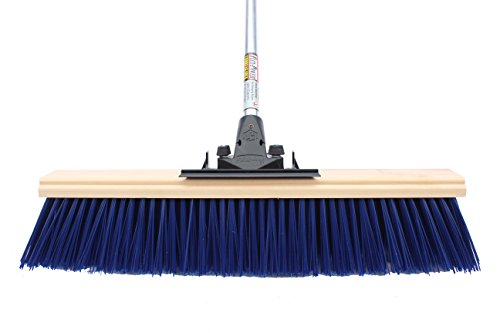 "FlexSweep Unbreakable Commercial Push Broom 24"" Extra Coarse STREET SWEEPER"