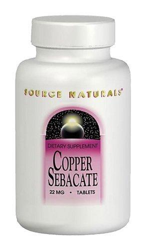 Copper Sebacate 60 Copper Sebacate 60 tablets Source Naturals