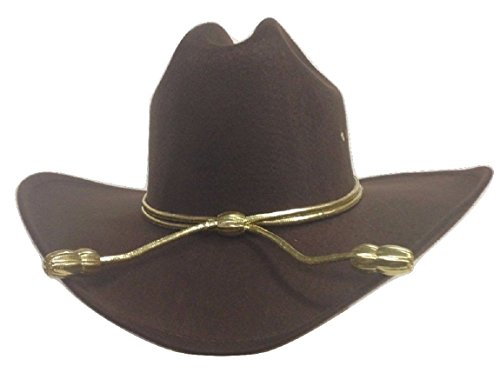 King County Sheriff Hat Brown Lined Cowboy Western Gold Cord LG/XL Zombie -