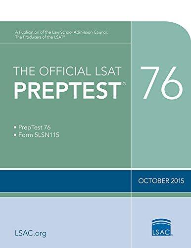 The Official LSAT PrepTest 76 (Official LSAT PrepTests)