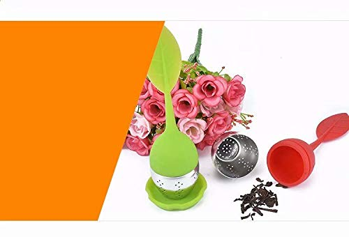 Doyime Stainless Steel Tea Infuser Strainer with Silicone Leaf Lid