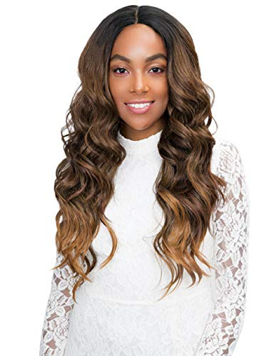 Janet Collection Human Hair Blend 4x4 CHELSEA Lace Front Wig (SUGAR BROWN)