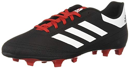 adidas Men's Goletto VI Firm Ground, Black/White/Scarlet, 10 M US
