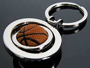 Amazon.com: 3D Sports Rotating Basketball Keychain Ring ...