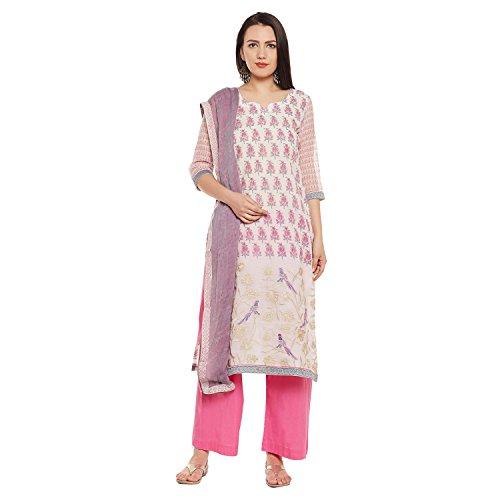 PinkShink Pink Chanderi Silk Embroidered Women