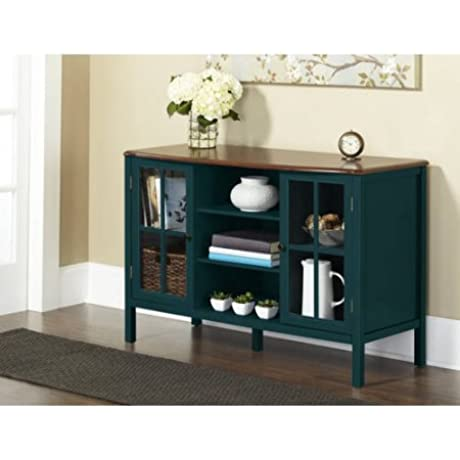 Elegant Enclosed Cabinet Bookcase With Tempered Glass Panels Rectangle Curved Shape Made Of Wood Two Doors Ideal For Living Room Family Room Multiple Colors BONUS E Book Deep Teal