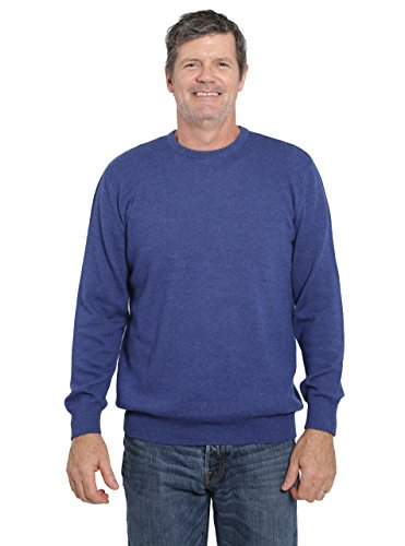 Incredible Natural Creations from Alpaca - INCA Brands The Batted Crew Pullover (Blue, Large) by Incredible Natural Creations from Alpaca - INCA Brands