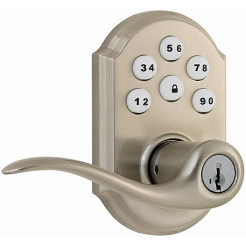 Kwikset 99110-008 SmartCode Electronic Lock with Tustin Lever Featuring SmartKey, Satin Nickel