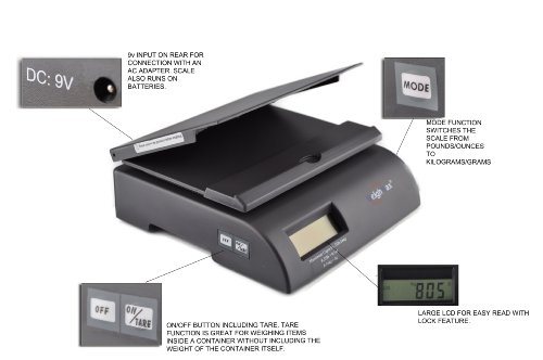 Weighmax 2822-35 lbs capacity, Gray, postal shipping scale