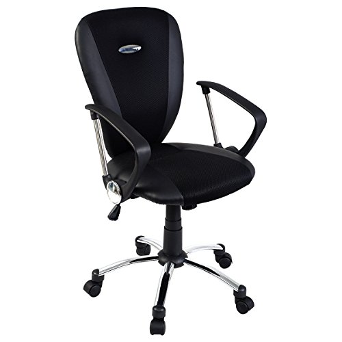Giantex Modern Ergonomic Computer Task Executive Mid-back De