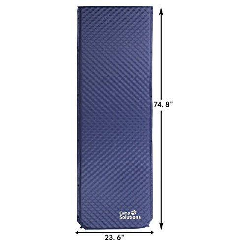Camp Pad; Lightweight Self-Inflating Camping Sleeping Pad or Mat; High Elasticity Foam Pad
