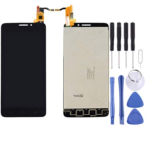 Flex Cable Repair Parts LCD Screen and Digitizer Full Assembly for Alcatel One Touch Idol X / 6040 / 6040A(Black) (Color : Black) (Alcatel Idol X 6040 Screen)