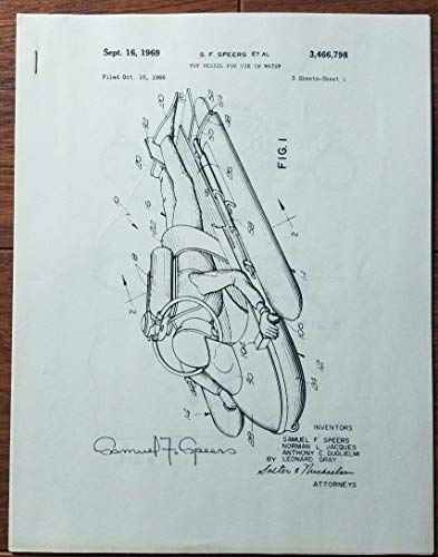GI Joe Designer Samuel Speers Hand Signed Water Mobile Sketch Todd Mueller COA
