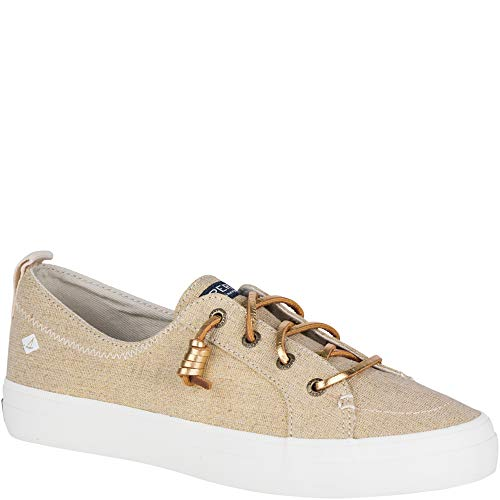 SPERRY Women's, Crest Vibe Slip on Shoes Gold Metallic 8 M