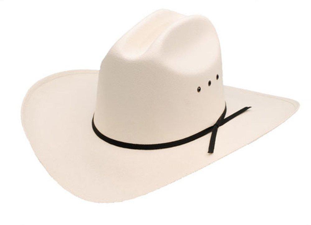 Sunrise Outlet Cattleman Low Crown Cowboy Straw Hat - 6 1/4 Beige