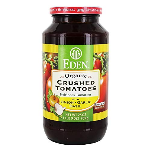 Eden Foods - Organic Crushed Tomatoes with Onion, Garlic, & Basil - 25 oz.