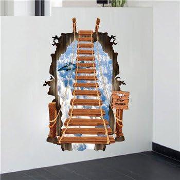 Llxln Escalera 3D De Dios Escalera Muro Creativo Pegatinas Pegatinas Decorativas Extraíble Inicio Aviones Cielo Escalera De 70 X 100Cm.: Amazon.es: Hogar
